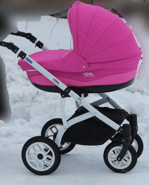 Фото - Продам коляску Adamex York розового цвета.