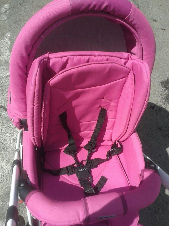 Фото 4 - Продам коляску Adamex York розового цвета.