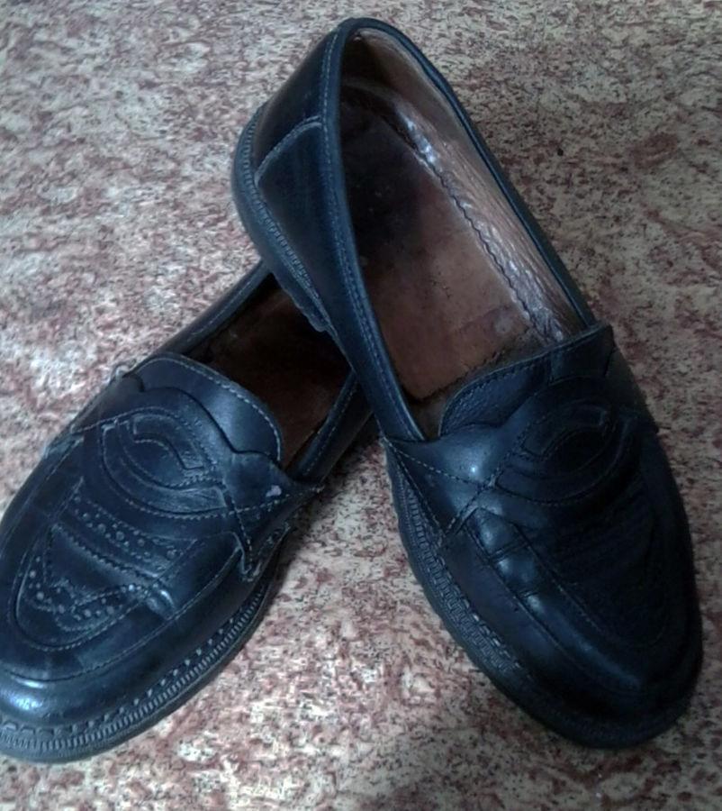 Фото - Кожаные туфли на подроста, 39 р