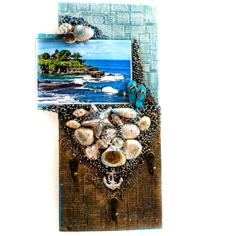 Фото - Настенная ключница - Мечты о море. Декор интерьера в морском стиле.