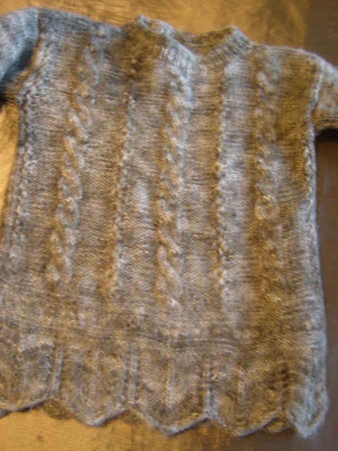 Фото 2 - Теплый шерстяной свитер на девочку