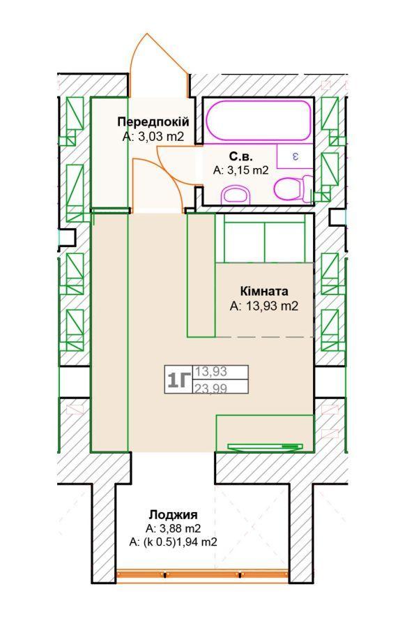 Фото 2 - Дешевая квартира в Ирпене