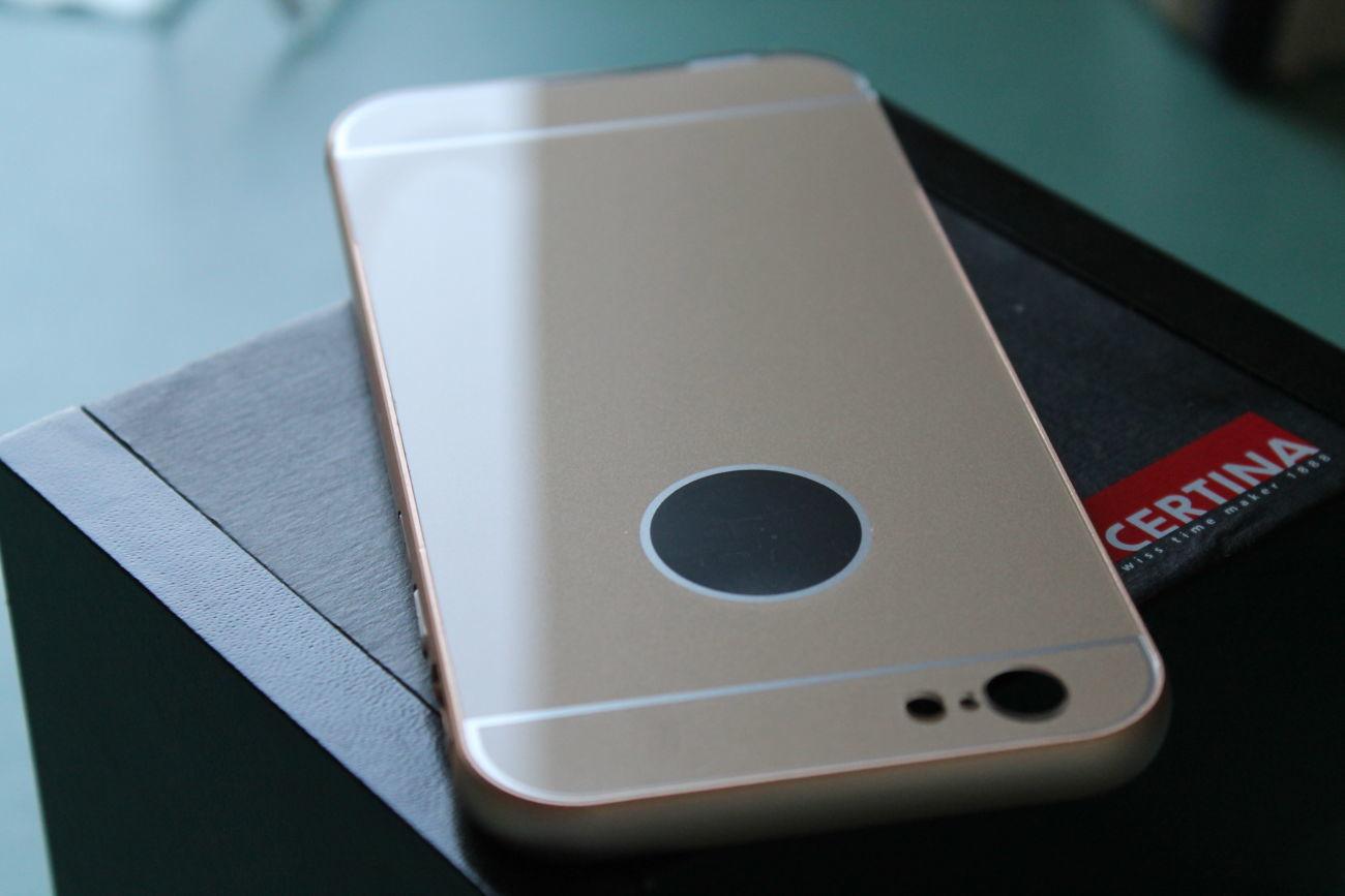 Фото 4 - iPhone 6 бампер чехол алюминий+акрил