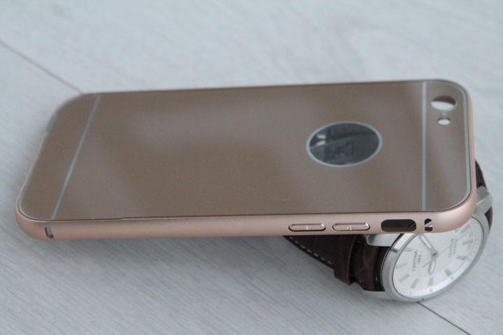 Фото 10 - iPhone 6 бампер чехол алюминий+акрил