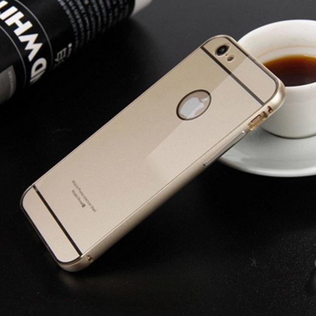 Фото 3 - iPhone 6 бампер чехол алюминий+акрил