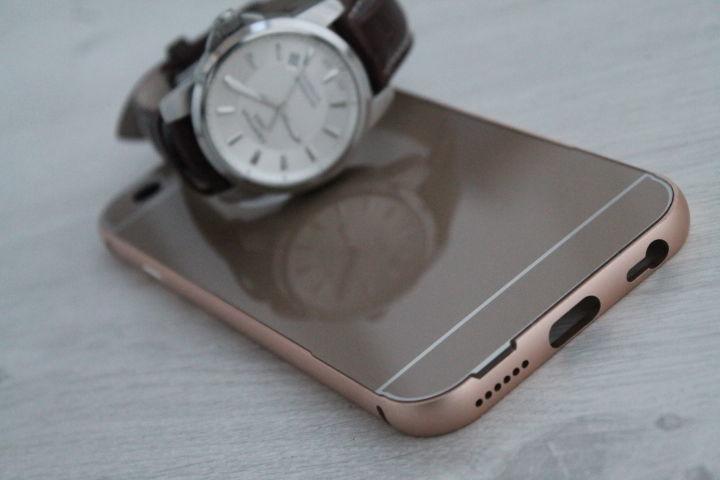 Фото 2 - iPhone 6 бампер чехол алюминий+акрил