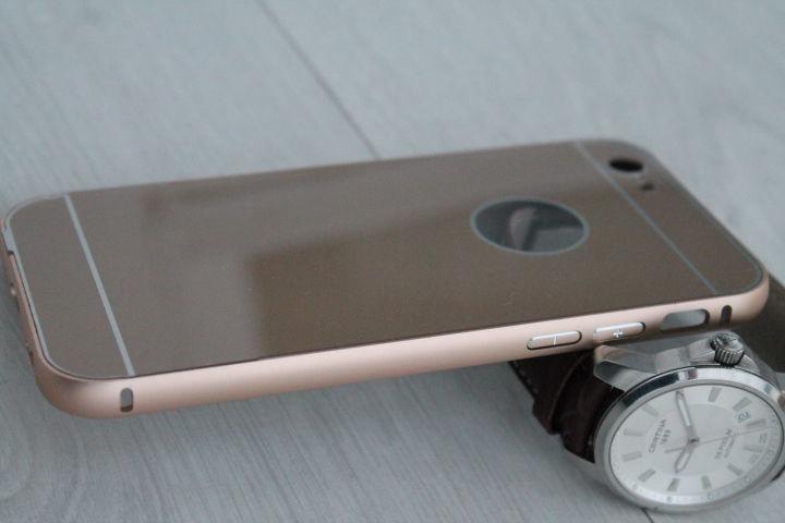 Фото 9 - iPhone 6 бампер чехол алюминий+акрил