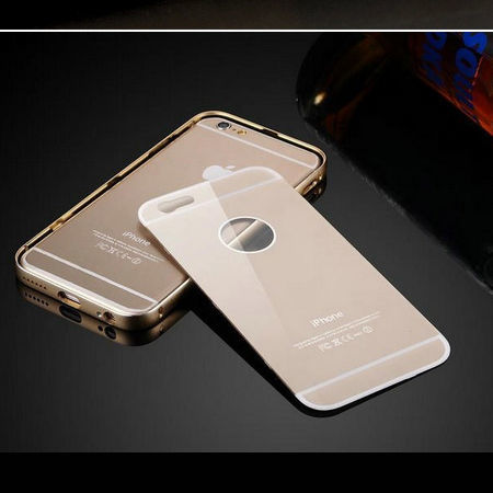 Фото 7 - iPhone 6 бампер чехол алюминий+акрил