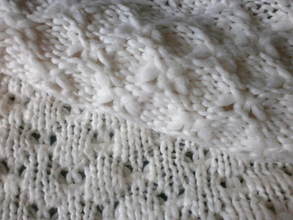 Фото 8 - Пряжа нитки белая акрил+шерсть, Вес ~670 грамм